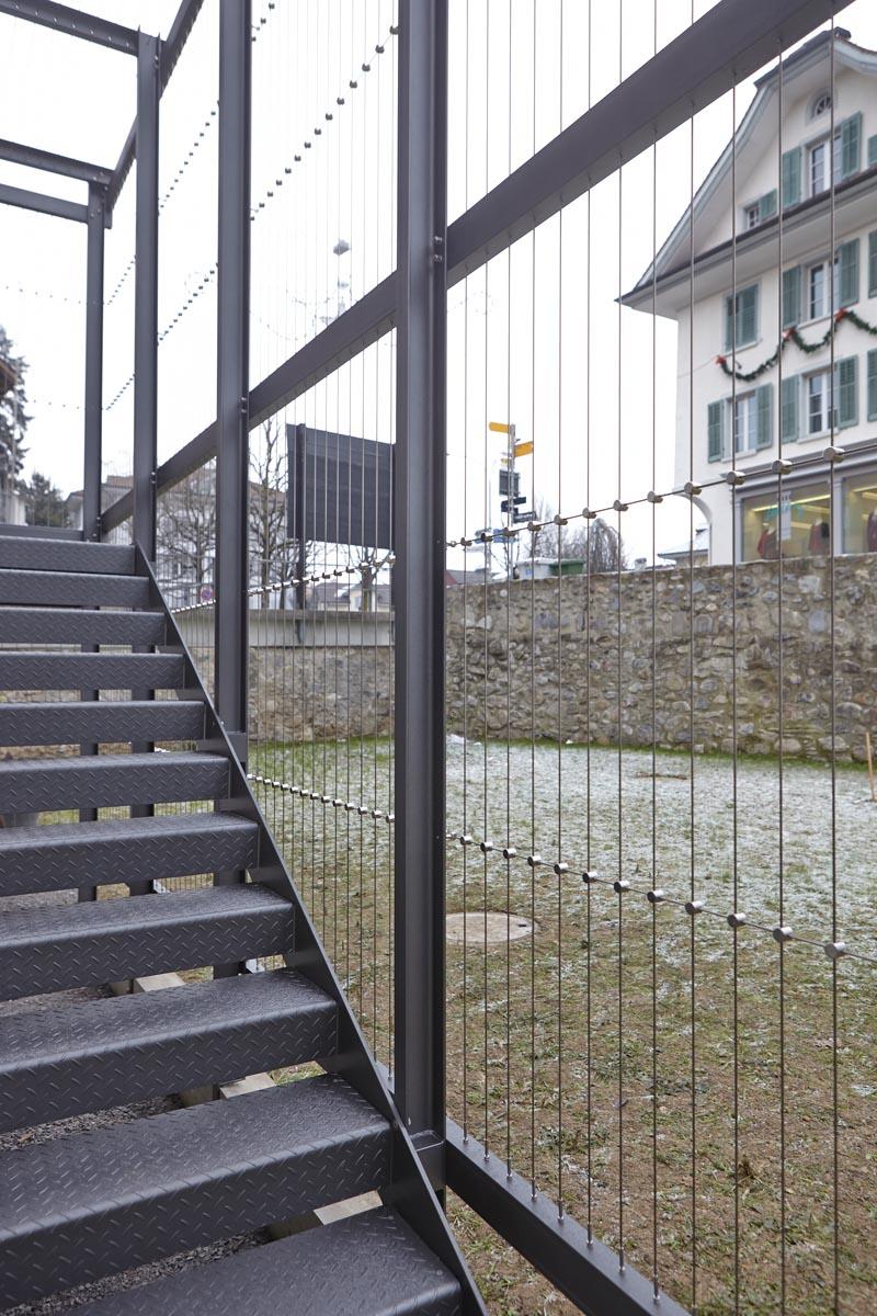 pergola mit treppe hanspeter b chler metallgestaltung kunstschmiede. Black Bedroom Furniture Sets. Home Design Ideas
